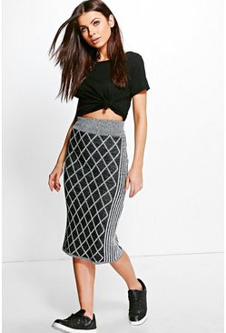 Karina Cage Knit Skirt