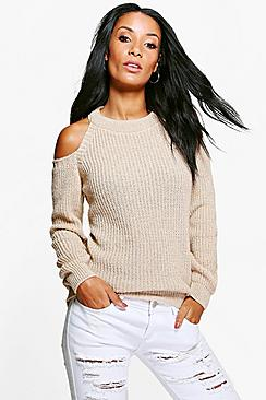 Niamh Cold Shoulder Fisherman Jumper