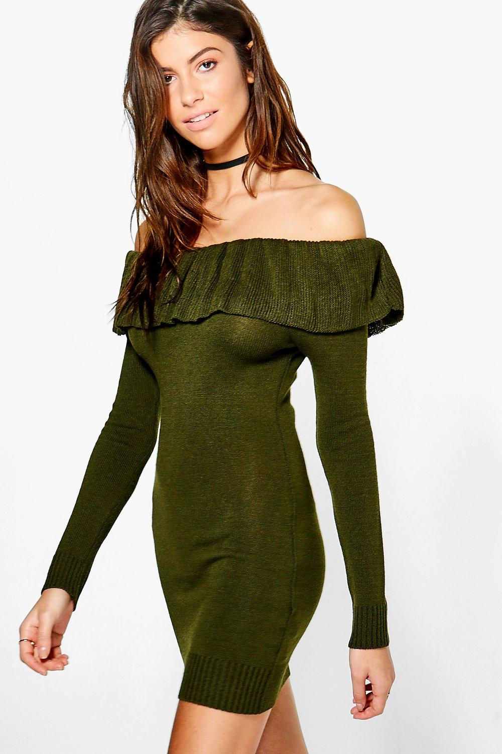 Alice Frill Neck Long Sleeve Jumper Dress