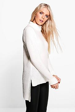 Jessica Funnel Neck Jumper
