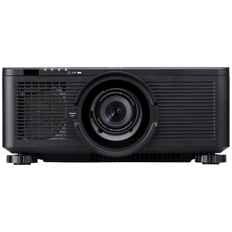 Full HD projector front product shot of the Canon LX-MU600Z