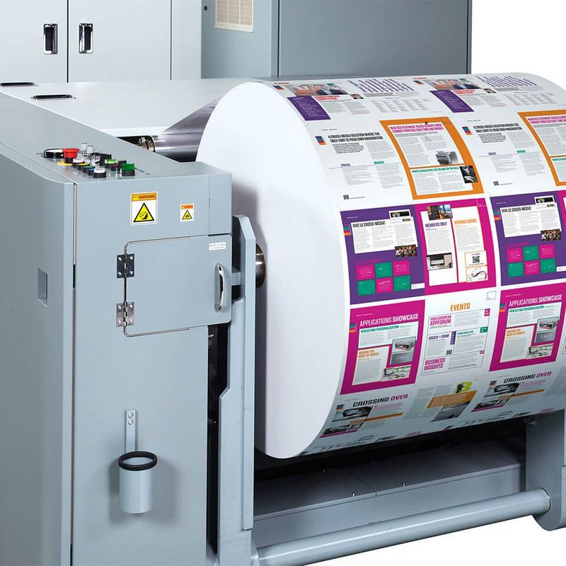 Continuous feed inkjet printers