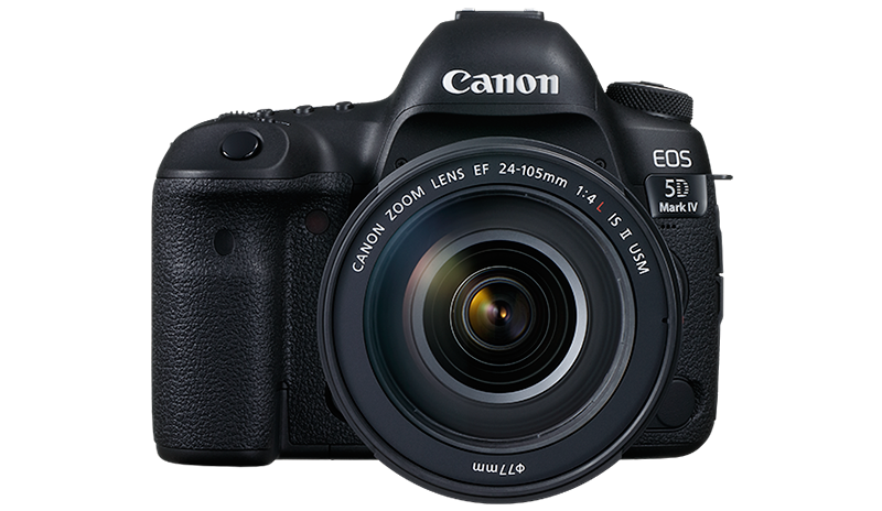 The EOS 5D Mark IV side view from front