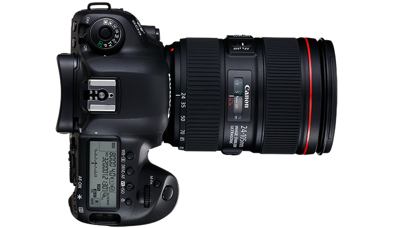 The EOS 5D Mark IV side view from top