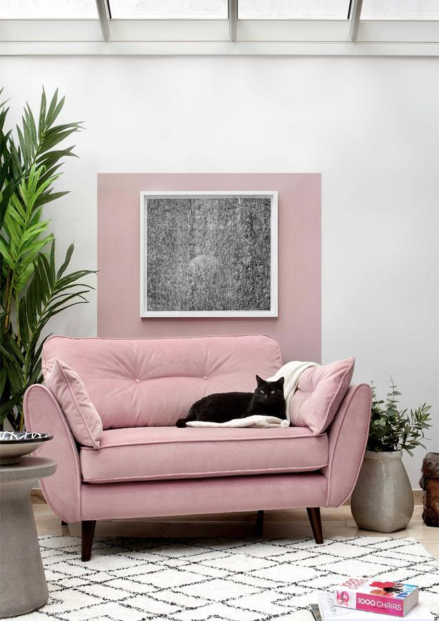 Pink Cuddler Sofa Roomset