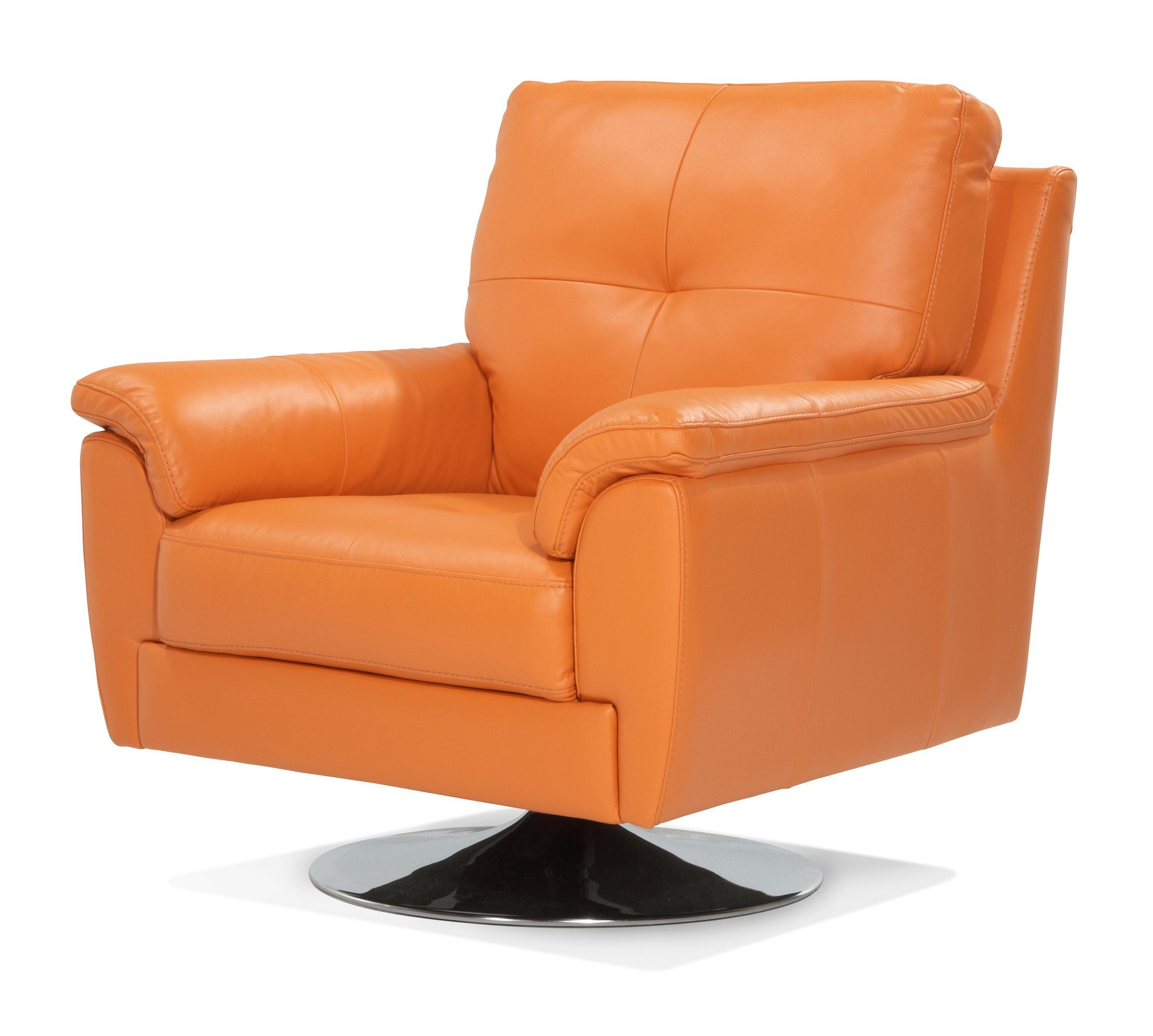 Leather Sofas At Dfs: DFS AINSLEY 100% REAL LEATHER ORANGE SWIVEL CHAIR