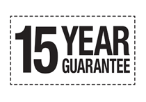 Our market leading 15 year guarantee