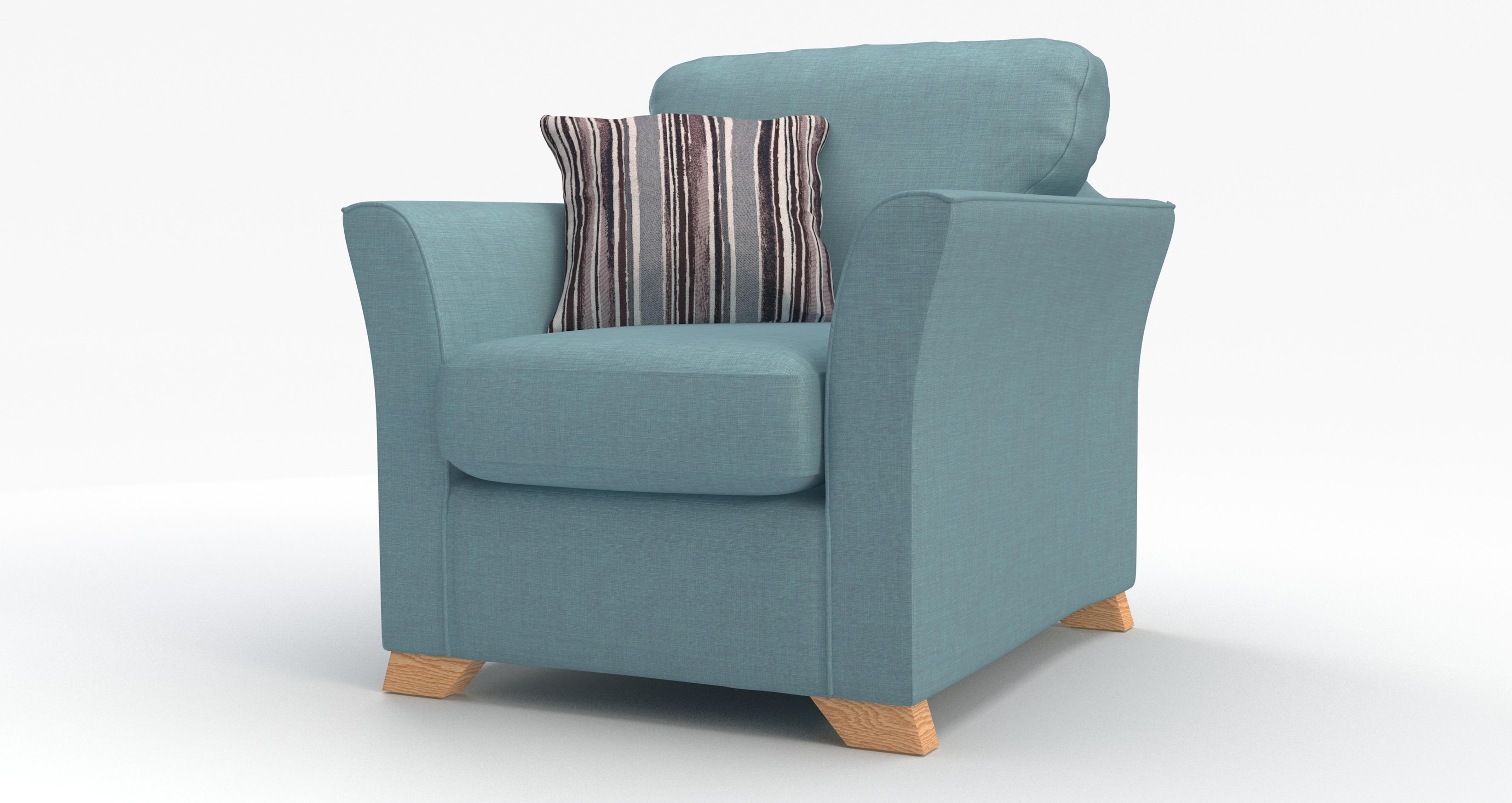 DFS Zuma Sky Blue Fabric Range - 3 Seater, 2 Str, Sofa Bed ...