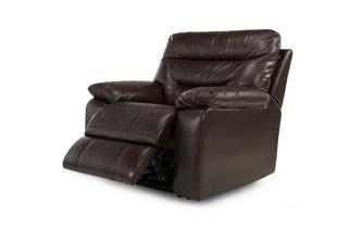 Leather and Leather Look Manual Recliner Chair Gourmet