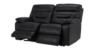 Active Leather and Leather Look 2 Seater Manual Recliner