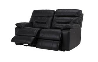 Leather and Leather Look 2 Seater Manual Recliner Essential