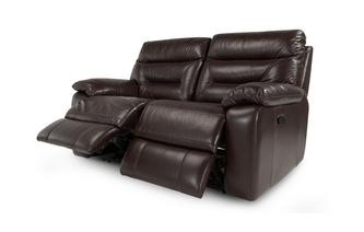Leather and Leather Look 2 Seater Manual Recliner Gourmet