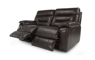 Leather and Leather Look 2 Seater Electric Recliner Gourmet