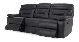 Active Leather and Leather Look 3 Seater Manual Recliner