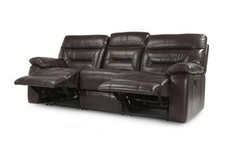 Leather and Leather Look 3 Seater Manual Recliner Gourmet