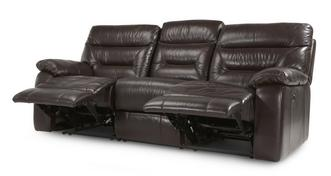Active Leather and Leather Look 3 Seater Electric Recliner