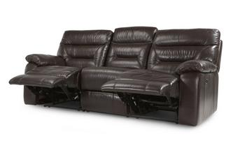 Leather and Leather Look 3 Seater Electric Recliner Gourmet