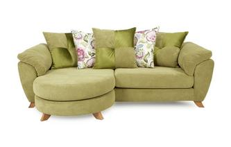 4 Seater Pillow Back Lounger Sofa Addison