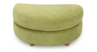 Addison Half Moon Footstool