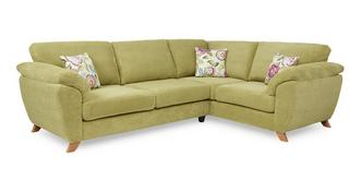 Addison Left Hand Facing 3 Seater Formal Back Corner Sofa