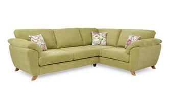 Left Hand Facing 3 Seater Formal Back Corner Sofa Addison