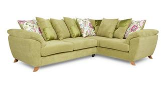Addison Left Hand Facing 3 Seater Pillow Back Corner Sofa
