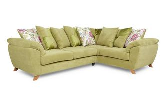Left Hand Facing 3 Seater Pillow Back Corner Sofa Addison