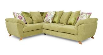 Addison Right Hand Facing 3 Seater Pillow Back Corner Sofa