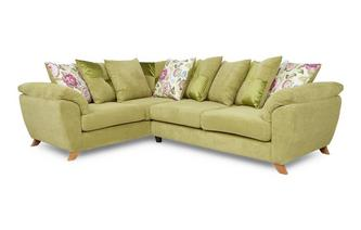 Right Hand Facing 3 Seater Pillow Back Corner Sofa Addison
