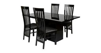 Adelphi Extending Dining Table & Set of 4 Slat Back Chairs
