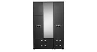 Adonis 3 Door Mirror Robe with Drawers