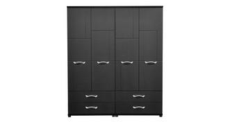 Adonis 4 Door Robe with Drawers