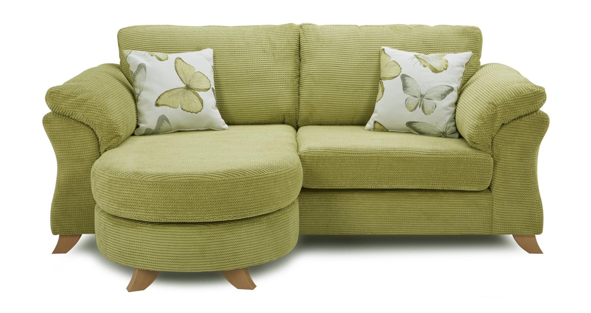 dfs alegra green fabric 3 seater formal back lounger sofa