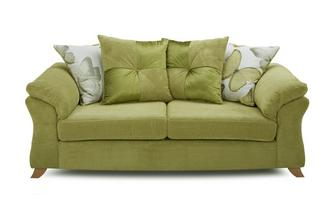 3 Seater Pillow Back Sofa Bed