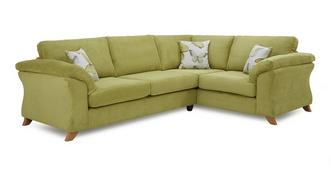 Alegra Left Hand Facing 3 Seater Formal Back Corner Sofa