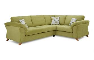 Left Hand Facing 3 Seater Formal Back Corner Sofa Capulet