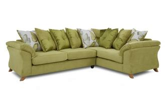 Left Hand Facing 3 Seater Pillow Back Corner Sofa Capulet