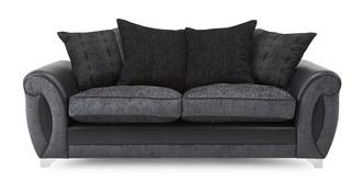 Alessa 3 Seater Pillow Back Sofa