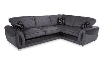 Left Hand Facing 3 Seater Formal Back Corner Sofa Talia