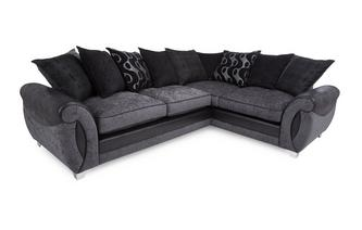 Left Hand Facing 3 Seater Pillow Back Corner Sofa Talia