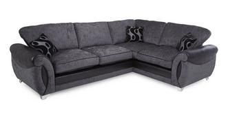 Alessa Left Hand Facing 3 Seater Formal Back Corner Sofa Bed