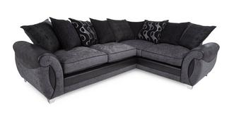 Alessa Left Hand Facing 3 Seater Pillow Back Corner Deluxe Sofa Bed