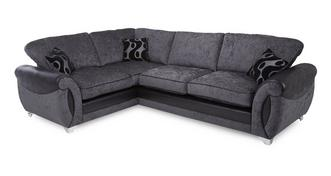 Alessa Right Hand Facing 3 Seater Formal Back Deluxe Corner Sofa Bed