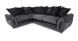Alessa Right Hand Facing 3 Seater Pillow Back Deluxe Corner Sofa Bed