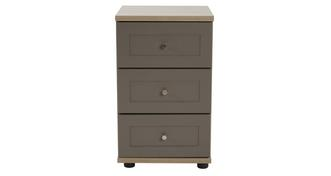 Allerton 3 Drawer Bedside Table