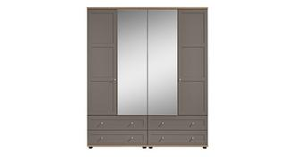 Allerton 4 Door 4 Drawer Mirror Robe