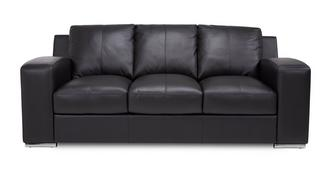 Anvil Leather and Leather Look 3 Seater Sofa