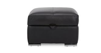Anvil Leather and Leather Look Storage Footstool