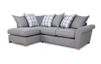 Right Hand Facing Pillow Back Corner Sofa Bed