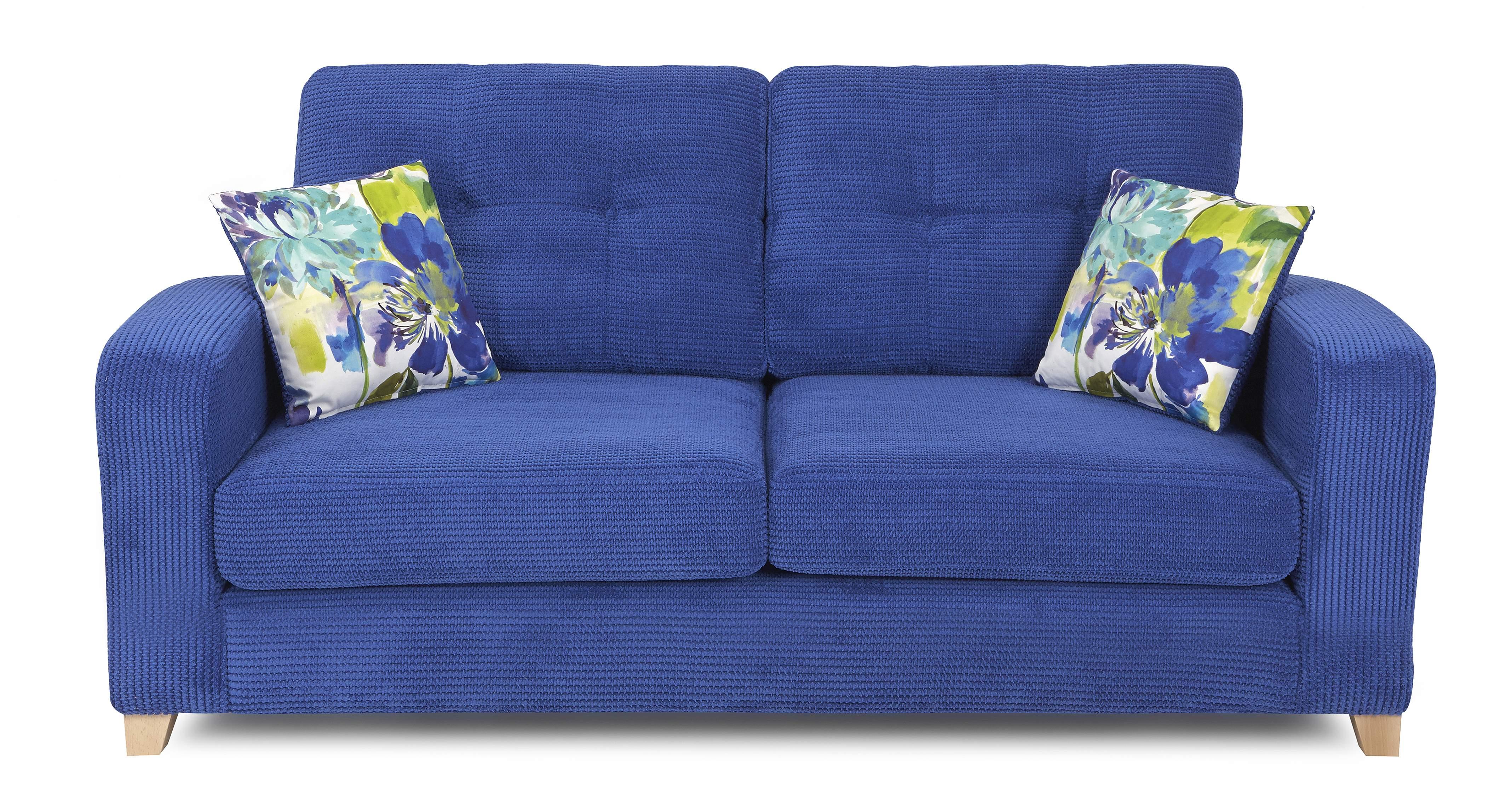 Dfs Artist 2 Seater Formal Back Blue Sofa Bed Ebay